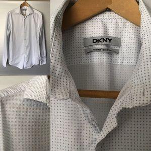 DKNY - Slim Fit/Diamond ♦️ Patterned Dress Shirt